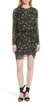 Veronica Beard Women's Fitzgerald Floral Print Metallic Chiffon Dress