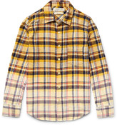 Remi Relief Slim-Fit Dégradé Checked Cotton-Flannel Shirt