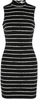 Elizabeth and James Eliona striped stretch-cady mini dress