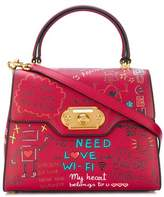 Dolce & Gabbana Dolce E Gabbana Women's Red Leather Handbag.