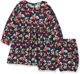 Rachel Riley Baby Girls 0-24m Cherry Flannel Bloomers Dress,(Manufacturer Size:6M)