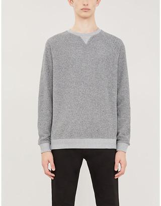 HUGO BOSS Two-tone cotton-towelling sweatshirt