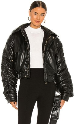 Nanushka Aida Vegan Leather Bomber