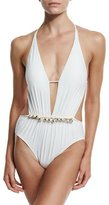 Gottex South Sea Pearl One-Piece Swimsuit, White