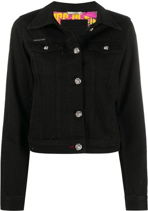 Philipp Plein Embellished-Button Denim Jacket