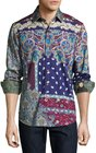 robert graham masolino paisleyprint woven shirt multi