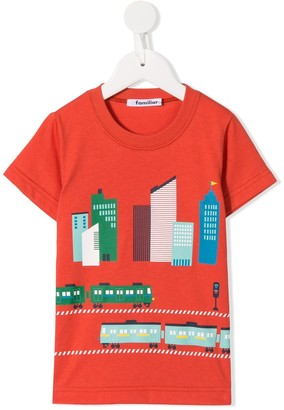 Familiar city print T-shirt