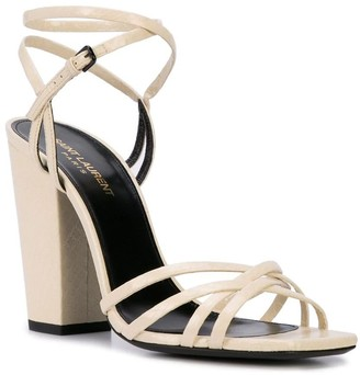 Saint Laurent Crisscross Strap Sandals