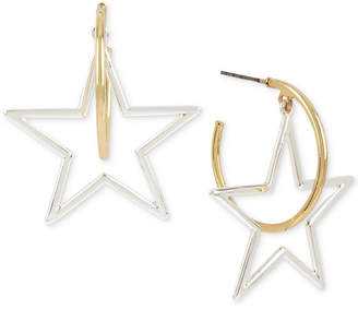 BCBGeneration Bcbg Two-Tone Star & Hoop Drop Earrings