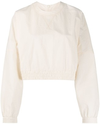 Nanushka Long-Sleeved Cropped Top