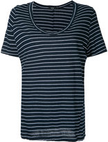 Bassike striped scoop neck T-shirt - women - Cotton - XS
