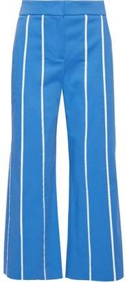 Derek Lam Cropped Stretch-cotton Twill Wide-leg Pants