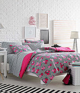Betsey Johnson Luv Betsey by Royal Roses Striped Floral Comforter Mini Set