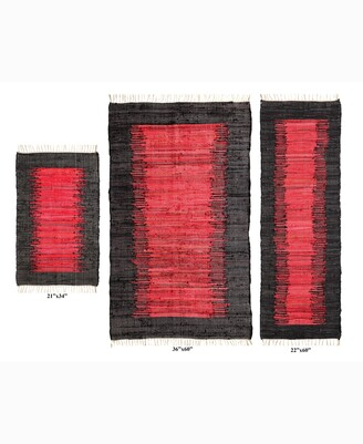 Home Weavers Burbank Accent Rug, 3 Piece Set Bedding