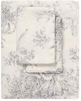Melange Home Toile Linen Blend Hemstitch Sheet Set