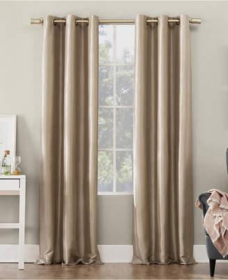 "Sun Zero Bardot Dupioni Faux Silk 100% Blackout Grommet Curtain Panel, 40"" W x 95"" L"