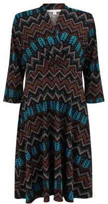 Nougat Darwin Aztec Print Dress
