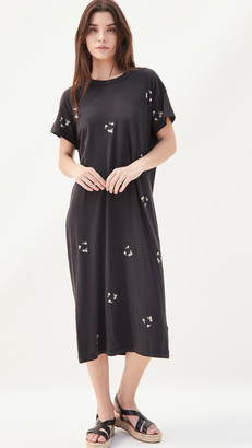 The Great The Boxy Dress w/ Daisy Bouquet Embroidery