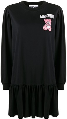 Moschino beaded Teddy Bear mini dress