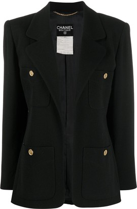 Chanel Pre Owned 1990s Four-Pocket Open Blazer