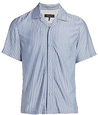Rag & Bone Avery Short-Sleeve Striped Shirt