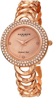 Akribos XXIV Women's Alloy Diamond Watch