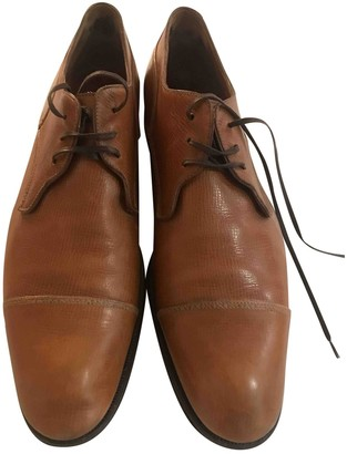 Sergio Rossi Brown Leather Lace ups