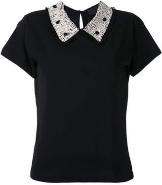 Andrea Bogosian embroidered collar T-shirt