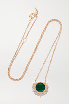 Thumbnail for your product : Piaget Sunlight 18-karat Rose Gold, Malachite And Diamond Necklace