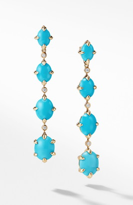 David Yurman Chatelaine® 18k Gold Drop Earrings with Diamonds