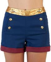Bioworld Wonder Woman High-Waist Shorts - Juniors