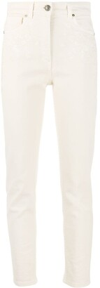 Etro Floral Embroidered Slim-Fit Jeans