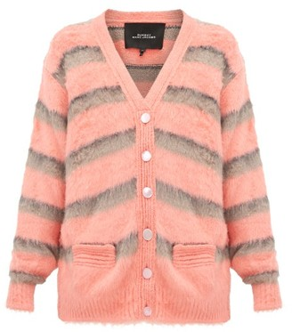 Marc Jacobs Runway - Striped Silk Cardigan - Womens - Pink Multi