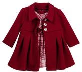 Iris & Ivy Plaid Dress & Textured Coat Set (Baby Girls 12-24M)