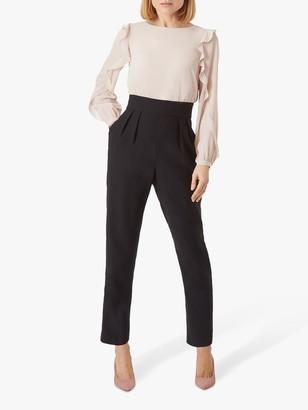 Hobbs Aubree Tailored Jumpsuit, Blush/Black