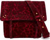 Jerome Dreyfuss Jeremie Small Leopard-print Suede Shoulder Bag - Claret