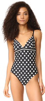 Kate Spade Polka Dot V Neck One Piece