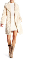 Eliza J Shaggy Faux Fur Topper