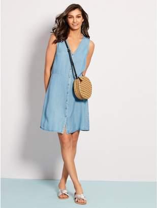 M&Co Vero Moda denim button front dress