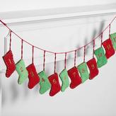 Felt Stocking Advent Calendar Garland