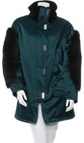 Jason Wu Fox Fur-Trimmed Parka Coat w/ Tags