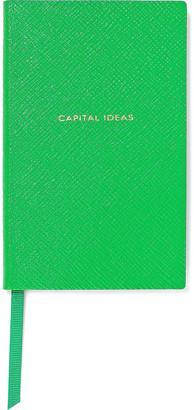 Smythson Panama Capital Ideas Textured-leather Notebook