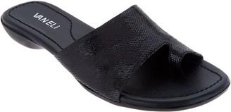 VANELi Leather Toe Loop Slides - Tallis