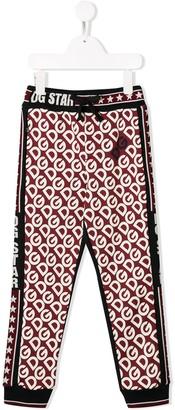 Dolce & Gabbana Kids DG Star logo print track pants