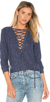 Michael Lauren Dominic Lace Up Pullover in Blue. - size L (also in M)