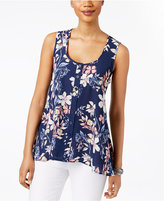Style&Co. Style & Co Petite Floral-Print Button-Front Blouse, Only at Macy's