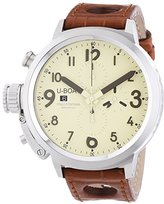U-Boat U Boat Flightdeck 50 Men's Automatic Watch with Beige Dial Chronograph Display and Brown Strap 7119.0