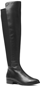 MICHAEL Michael Kors Women's Bromley Leather & Stretch Tall Boots