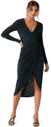 Forever New Allanah Drape Glitter Dress