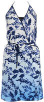 Vix Doris Marin Blue Printed Mini Dress